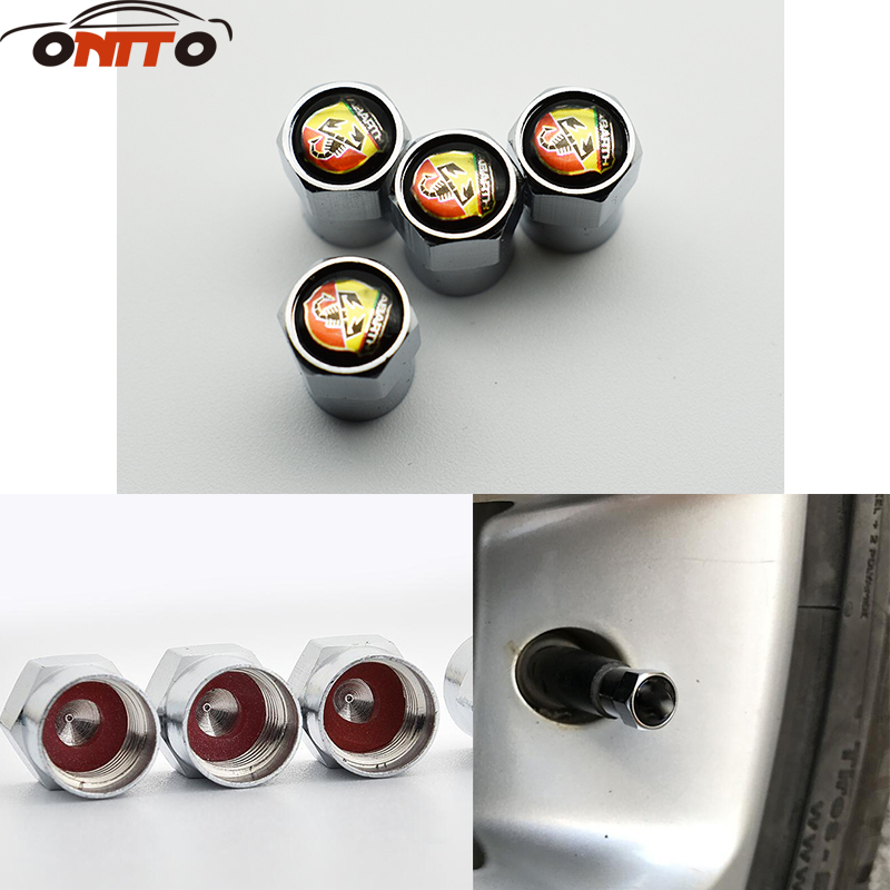 Hot selling 10set Car Tyre Air Valve Caps Bicycle Tire Valve Cap for ABARTH car styling