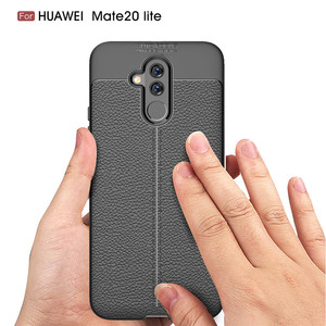 Image 5 - עבור Huawei Mate 20 לייט מקרה Mate 20 Lite כיסוי רך TPU פגוש עור מרקם סיליקון מוקשח מקרה עבור Huawei mate 20 לייט