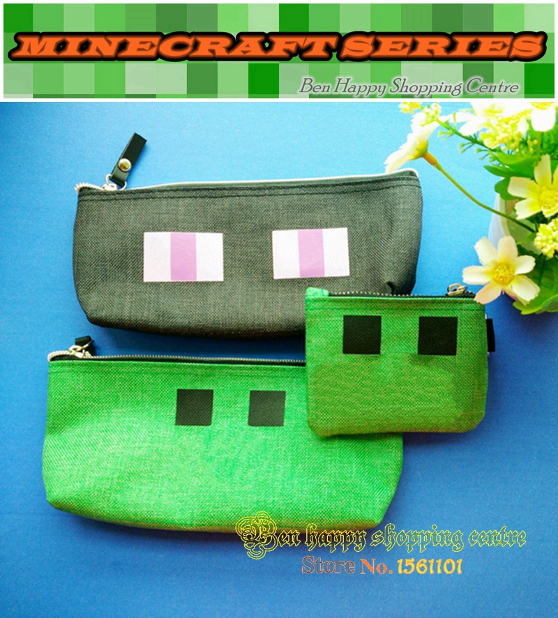 Case Pencil-Bag-Model Minecraft Gift for Creeper-Layer Ender Favorite Kids' Man Newest