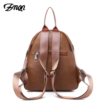 ZMQN Women Bagpack For 2019 Small Backpack Zipper School Bags For Teenage Girl Casual Leather Backpack Mini Sac A Dos Femme C111