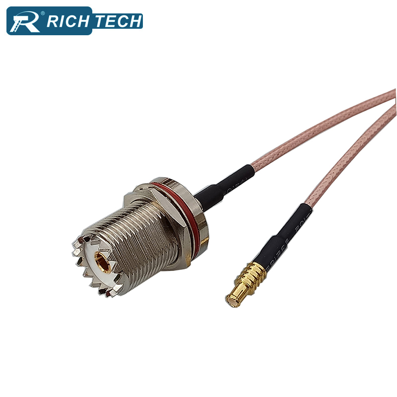 UHF-MCX RF Cable Adapter 50PCS 15CM 6 MCX Plug to UHF Jack with Pigtail Coaxial Cable RG316 Connector UHF-F to MCX-M factory sales rf coaxial cable f to mcx connector f female to mcx male right angle plug rg316 pigtail cable 15cm free shipp