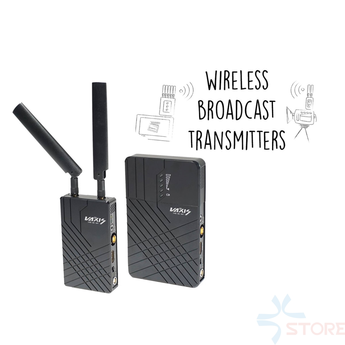 Vaxis Storm 500ft SDI HDMI Wireless Transmitter and Receiver System (150m) WDHI Long Range Professional Broadcast Cameara viper storm vii 150