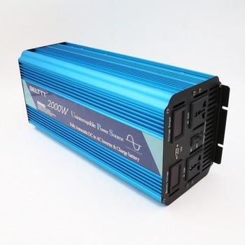 Caricabatterie Inverter | Intelligente 2000 W Puro Inverter A Onda Sinusoidale Costruito In Batteria Del Caricatore 12 V 220 V Inverter Di Potenza Con Il Prezzo Di Fabbrica