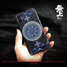 O seis sílaba mantra telefone estojo para iphone xs max xr x capa para 6 s 7 8 mais budismo guanyin mantra auspicioso maldição redonda