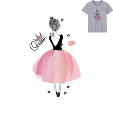 Buy 15x24cm Ballet girl Parches Iron On Stickers Washable Appliques A-level Patches Heat Transfer For DIY Accessory Clothes Bag directly from merchant!