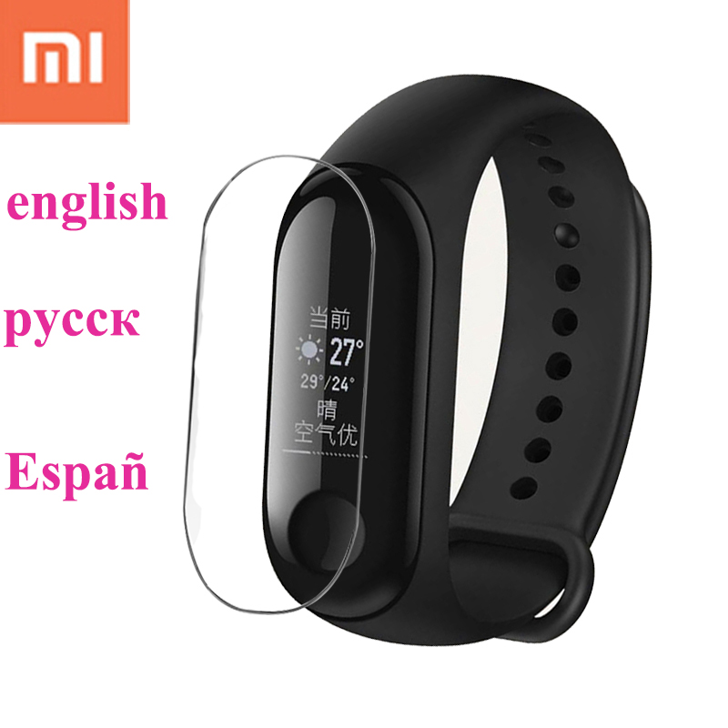 New xiaomi mi band 3 wristband with film original xiao mi miband 3 smart bracelet for android for iphone fitness tracker band