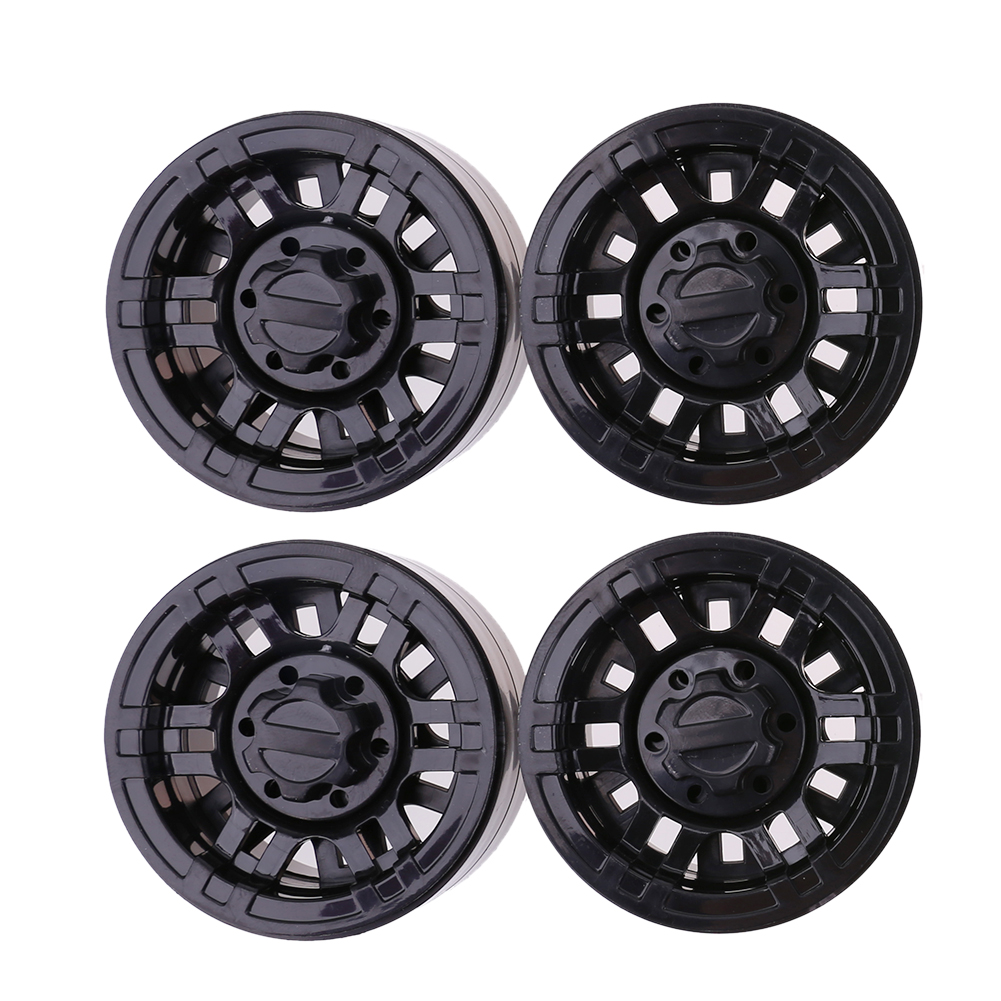 4pcs Plastic 1.9 Inch Beadlock Wheel Rim for Axial SCX10 TAMIYA CC01 RC4WD D90 D110 TF2