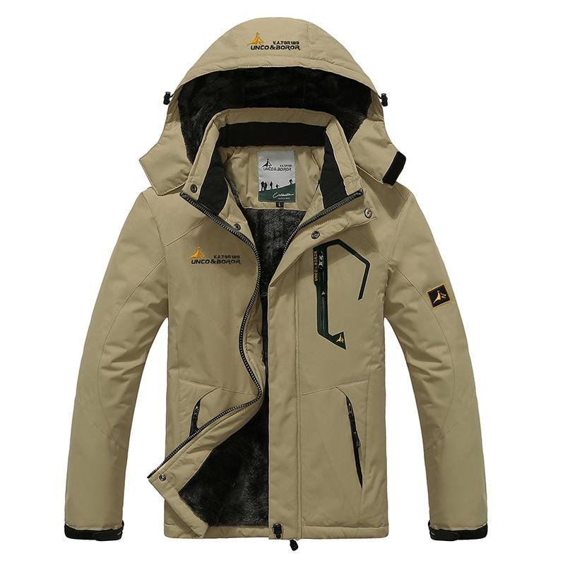 2019 Mens Winter Warm Fleece Outdoor Waterproof Jacket Sport Coat for Hiking Camping Trekking Skiing Male Jackets in Hiking Jackets from Sports Entertainment