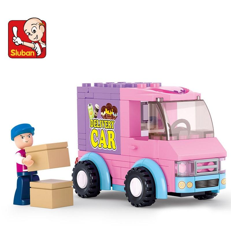 Figure 8 Cars For Sale: Sluban Supermarket Distribution Car 102 Pcs Bricks Set