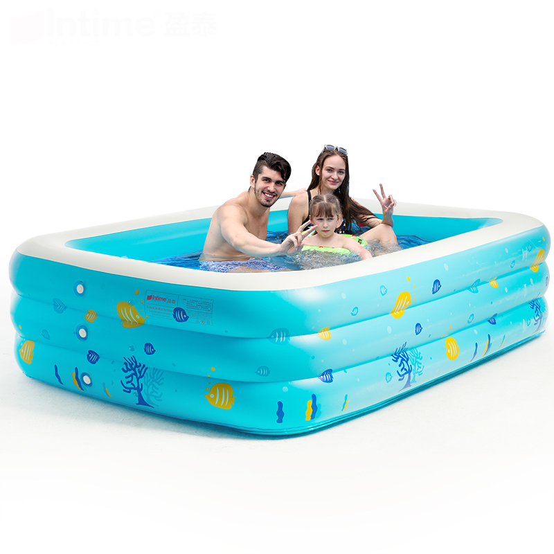 Many Size intime Child Swimming Pool Adult Baby Swimming Pool Baby Inflatable Swimming Pool Ultra-large Thickening pool dual slide portable baby swimming pool pvc inflatable pool babies child eco friendly piscina transparent infant swimming pools