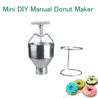 Stainless Steel Mini Manual Donut Making Machine Cake Donut Hopper With Stand Commercial Household Donut Molding