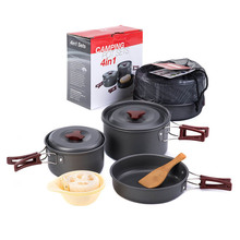 Outdoor Camping Cookware Set Utensils Tableware Travel  Hiking Picnic