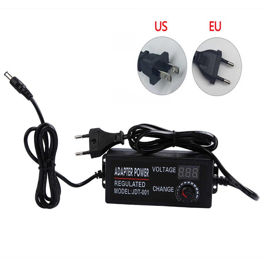 Регулируемый AC к DC 3 V 9 V 12 V 24 V адаптер питания дисплей экран питание освещение трансформаторы 3 9 12 24 V Вольт светодиодный драйвер