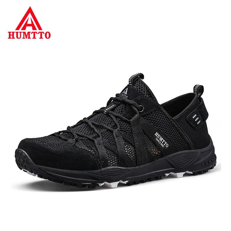 Été respirant maille homme chaussures décontractées en plein air amorti résistant à l'usure Designer baskets doux antidérapant à lacets hommes chaussures