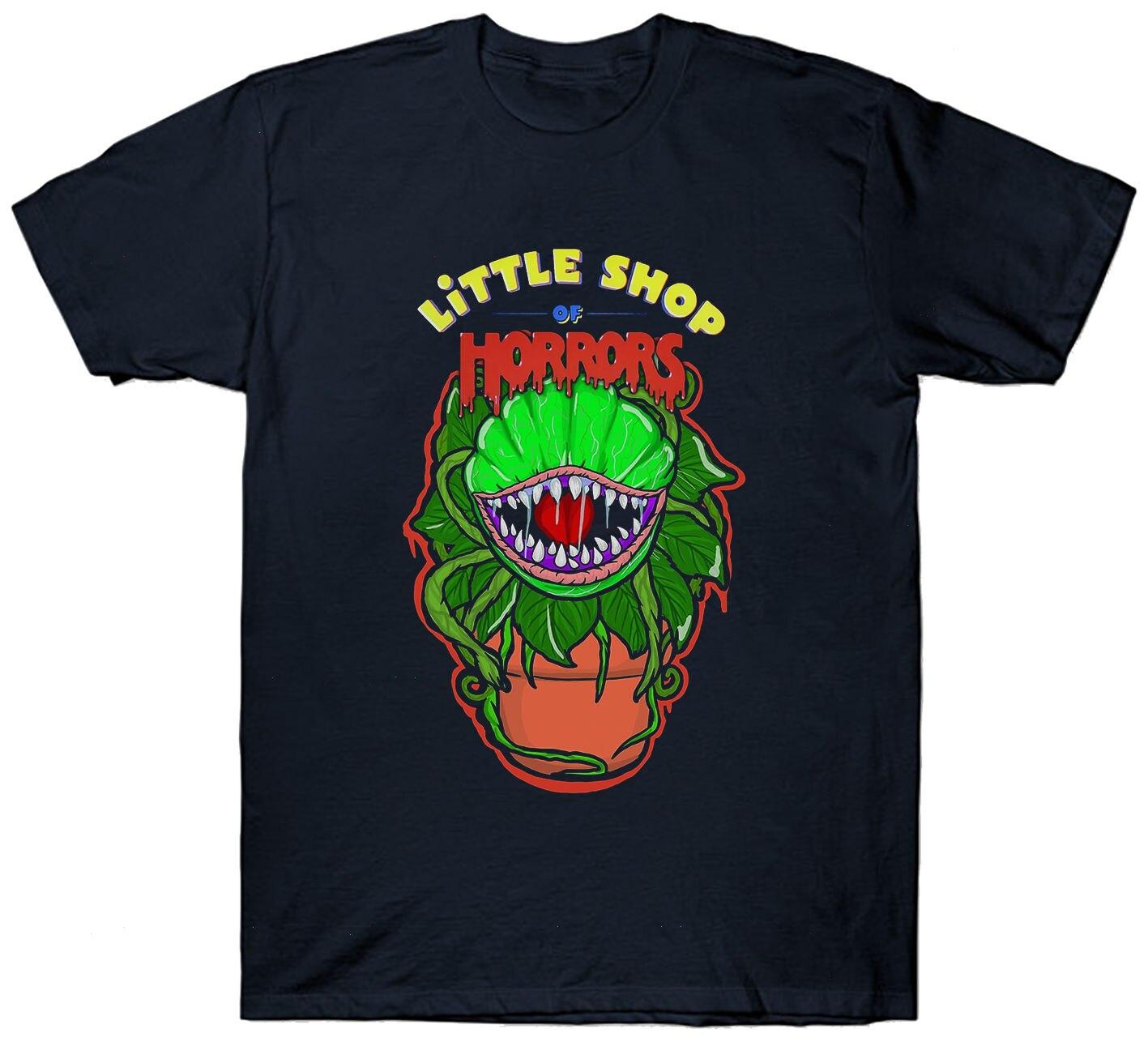 LITTLE SHOP OF HORRORS T SHIRT TOP CULT FILM MOVIE 1980S FAN HORROR SCI FI T-Shirt Summer Novelty Cartoon T Shirt
