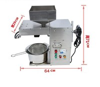 15 20kg/hour Commercial peanut oil press machine with cold and hot press
