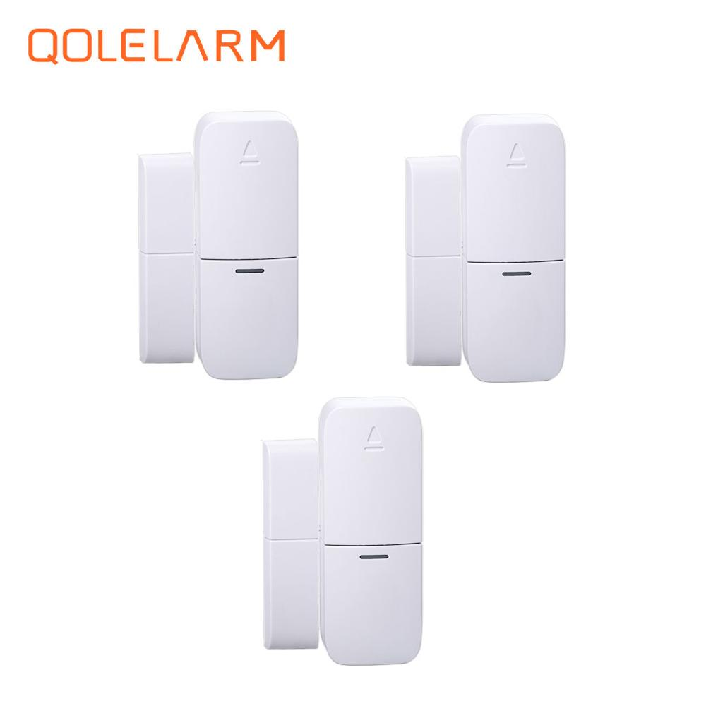 Wireless Multi-function Door Sensor Magnetic Window Detector For Security Alarm System Automatic Door Sensor 433MHz yobangsecurity wireless door window sensor magnetic contact 433mhz door detector detect door open for home security alarm system
