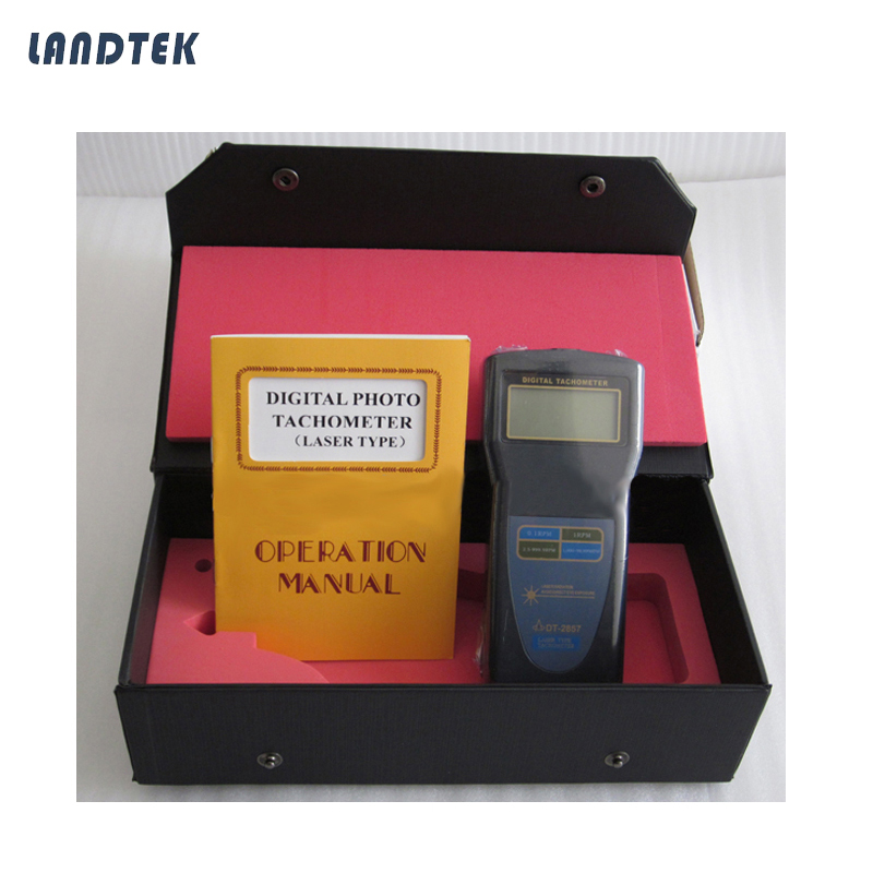 Digital Tachometer,Laser type,Photo Contact rpm DT-2857 cem high quality digital tachometer rpm 5 digits 31mm blue backing lcd display dt 6236b photo contact tachometer