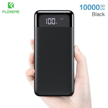 FLOVEME 10000mAh Power Bank For iPhone Xiaomi Mi 9 Huawei Powerbank Portable Mini Dual USB Charging External Battery