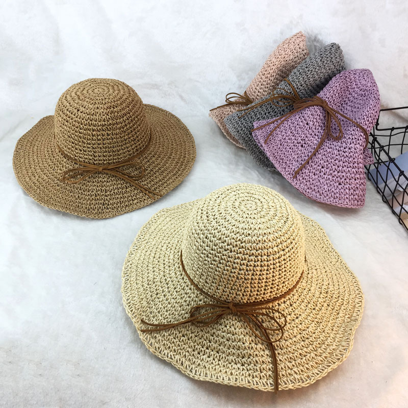 10pcs 01802 duxiao4099 Hand woven hot sell holiday beach paper straw cap women lady sunscreen hat