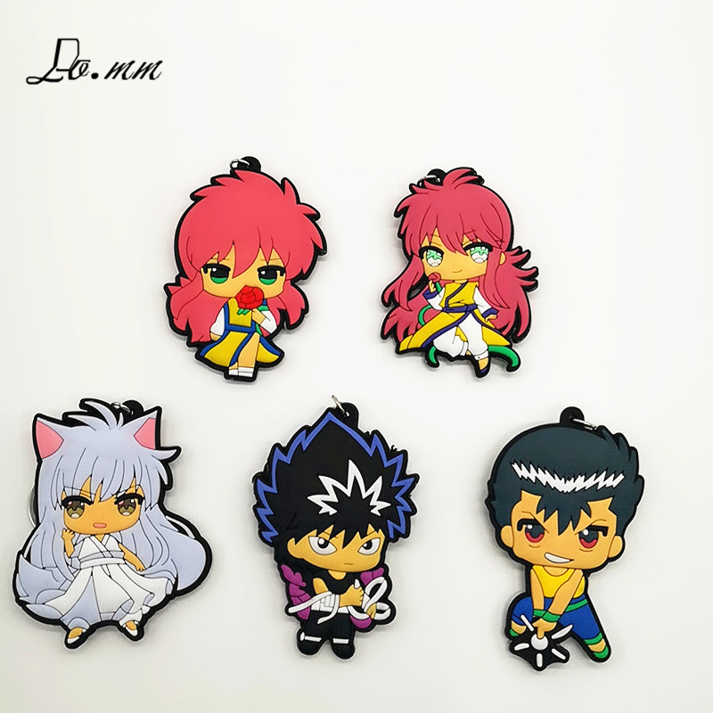 Key Chains Jewelry Sets & More Japanese Comic Yu Yu Hakusho Cos Pvc Key Chains Cartoon Red Keychain Cute Funny Gift Bag Pendant Accessories Kid Toy Porte Clef