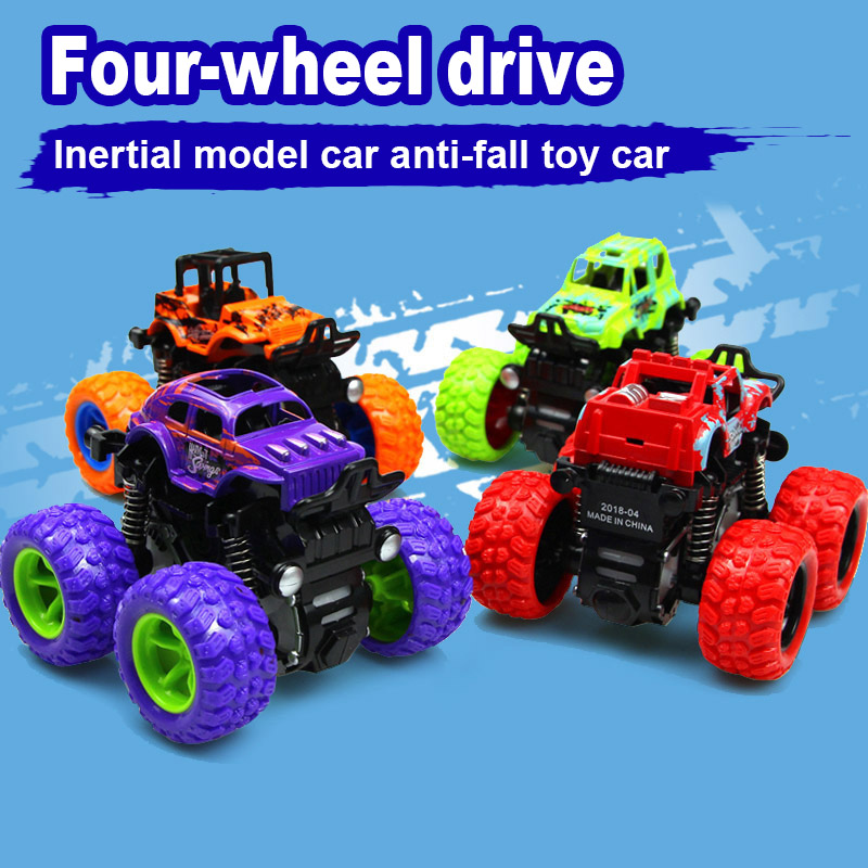 1 Uds., vehículo todoterreno, juguete, tracción en las cuatro ruedas, inercia a prueba de golpes para niños @ ZJF Para Mitsubishi Outlander 2013 2015 2016 2017 2018 Exterior modificado especial 3D 4WD letras pegatinas de cuatro ruedas