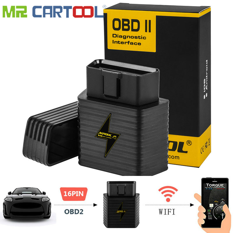 A5 OBD2 Adapter Auto Scanner WIFI Bluetooth ELM327 1,5 V Auto OBDII Für Android IOS Motor Code Reader Diagnose Scannen werkzeug