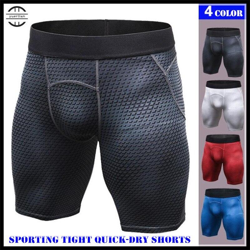 Männer Pro Shapers Unterwäsche 3D Drucken Engen Boxer, kühlen Hohe Elastische Atmungsaktiv Schweiß Quick-dry Wicking Sporting Fitness Shorts