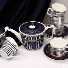 Phnom Penh Bone China Coffee Cup Set European Home Tea Set Afternoon Teapot Sugar Milk Pot Cup And Sauce