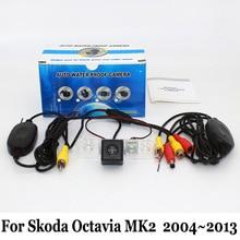 Для Skoda Octavia MK2 Фантазия (Typ 1Z) 2004 ~ 2013/RCA Проводной Или Беспроводной HD Широкоугольный Объектив/CCD Ночного Видения Камеры Заднего вида