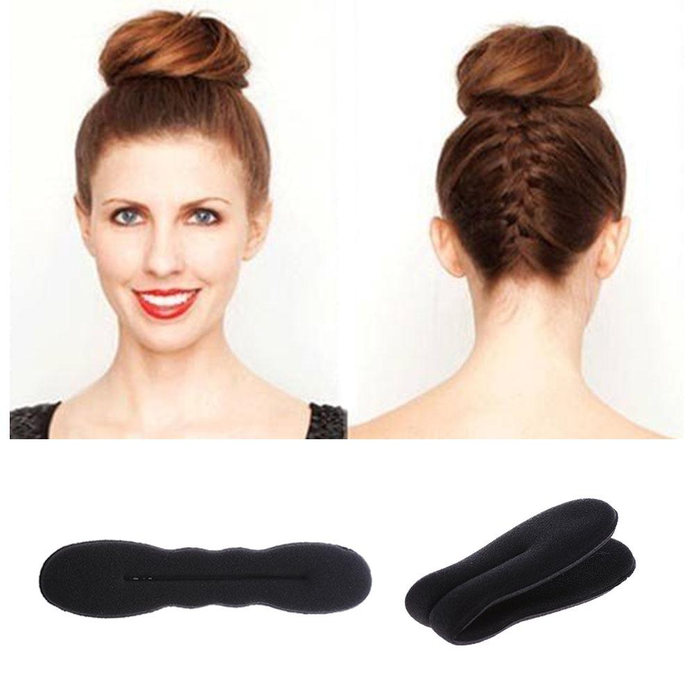 1PC Hot Fashion Hair Fast Bun Magic Foam Sponge Hair Tools Plate Donut Bun Maker Former Twist Tool Styling Hair Accessories