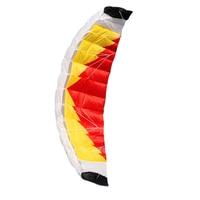 New High Quality 2m Nylon Dual Line Parafoil Kite With Control Bar Line Power Braid Sailing Kitesurf Rainbow Sports Beach