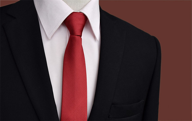 391b90354e85 SCST Brand Designer Cravate New Classic Solid Red Zipper Tie 5.5cm Skinny  Silk Ties For