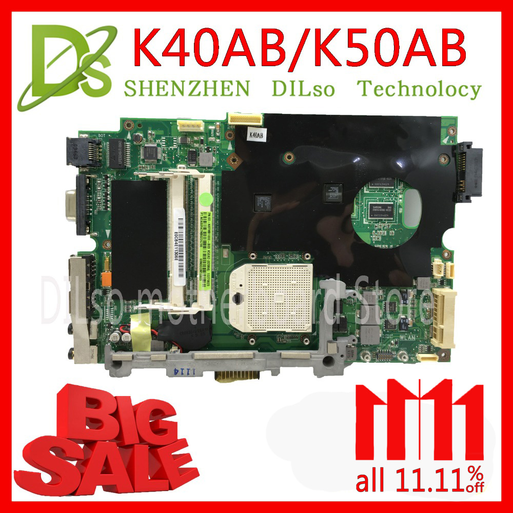 KEFU K40AB motherboard for asus laptop motherboard K40AB K40AD K40AF K50AB K50AD K50AF motherboard Test motherboard