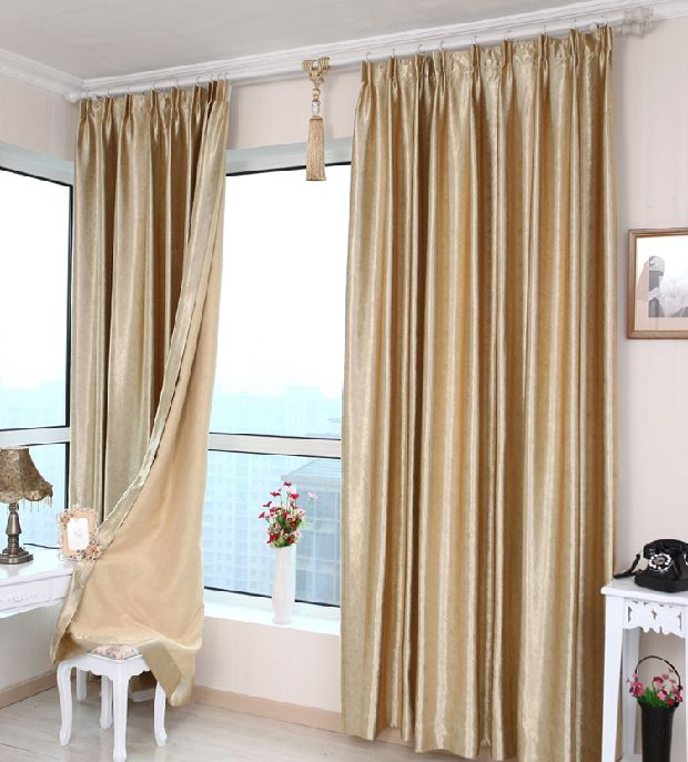 Cheap Sun office full finished custom blackout curtains ...
