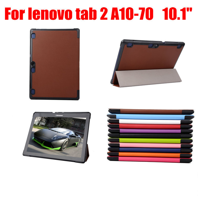 58aacc24e For lenovo Tab2 A10 70 Leather cover case funda for For lenovo tab 2 a10 70  10.1 inch tablet pc leather case+film+stylus pen-in Covers   Cases from  Computer ...