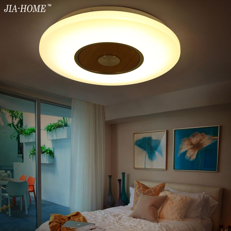 Nordic LED Wooden Ceiling Lights In Round Shape lamparas de techo For Bedroom Living room Ceiling Lamp Fixtures noosion modern led ceiling lamp for bedroom room black and white color with crystal plafon techo iluminacion lustre de plafond