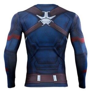 Image 3 - Мстители: эндшпиль, костюм, колготки, Капитан Америка, футболка, Steve Rogers, лучшие костюмы, косплей, супергерой Marvel, Хэллоуин, вечерние реквизит