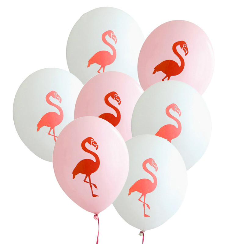 10pcs/lot 12inch Flamingo Latex Balloon Hawaii Luau Pool Party Decor Birthday Wedding Baby Shower Party Decorative balloons