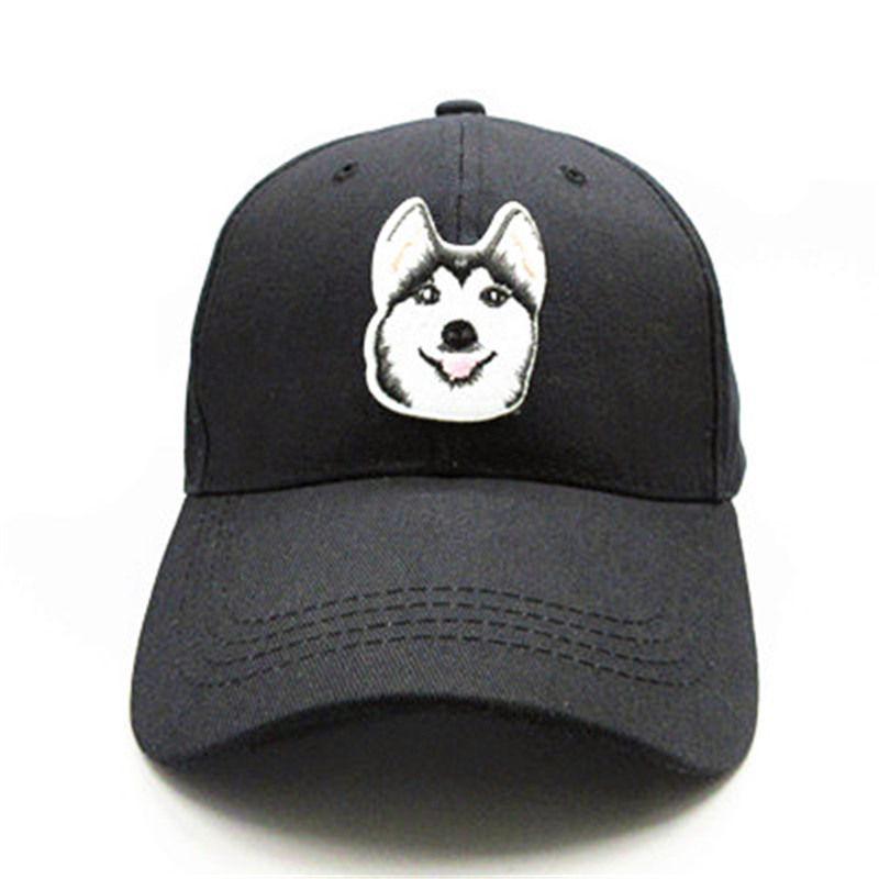 Dog Animal Embroidery Cotton Casquette Baseball Cap Hip-hop Cap Adjustable Snapback Hats For Kids Men Women 257
