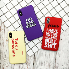 ФОТО fashion hard pc phone case for iphone x case for iphone 7 6 6s 8 plus funny  letter print back cover ultra thin  case