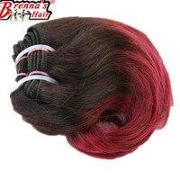 يونيس الشعر حزم جسم موجة 8 inch قصيرة الاصطناعية الشعر النسيج أومبير بورجوندي/613/أشقر/أزرق/الأرجواني الألوان 4 حزم/حزمة