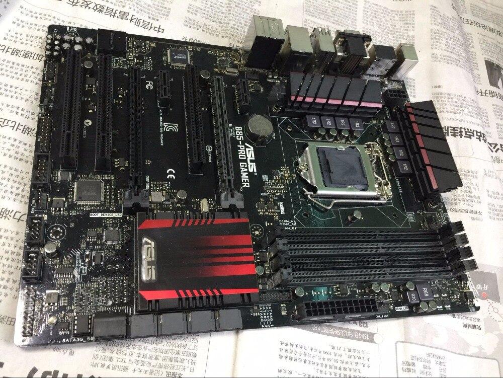 Livraison gratuite origine carte mère ASUS B85-PRO GAMER LGA 1150 DDR3 32 GB USB3.0 pour I3 I5 I7 22nm CPU HDMI B85 bureau conseils