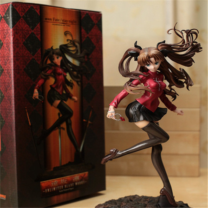 Japanese anime figure Fate Stay Night UBW Tohsaka Rin PVC Figure Action Doll Kids toys for collection
