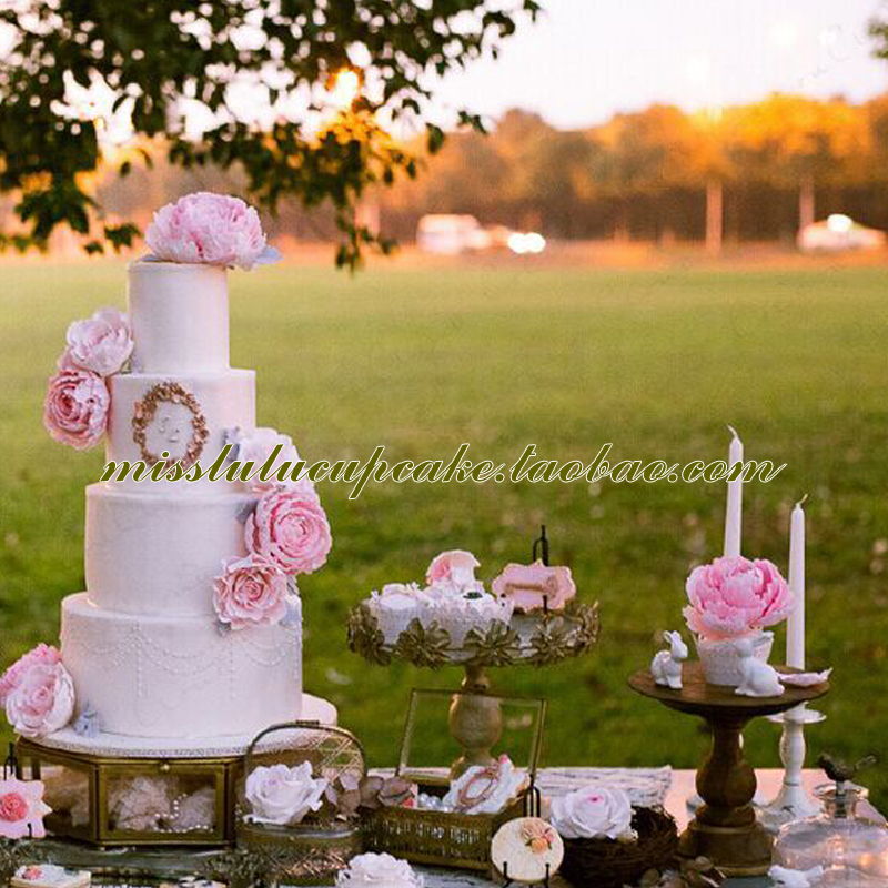 European dessert table Decoration high cake cake tray wedding cake ...