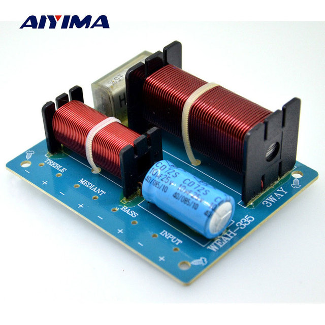 aiyima 3 way 200w 8ohm audio speaker frequency divider amplifier crossover  filter for ktv stage subwoofer