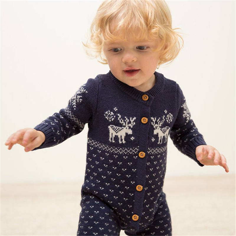 Autumn Newborn Baby Clothing Long Sleeve knitting baby clothes Cotton infant Rompers Girls Boys Clothes kids christmas gift he hello enjoy baby rompers long sleeve cotton baby infant autumn animal newborn baby clothes romper hat pants 3pcs clothing set