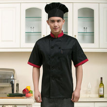 fashion short-sleeve chef Service checkedout chef jacket cheapest chef shirt restaurant tops hotel uniform Food Service 3 color