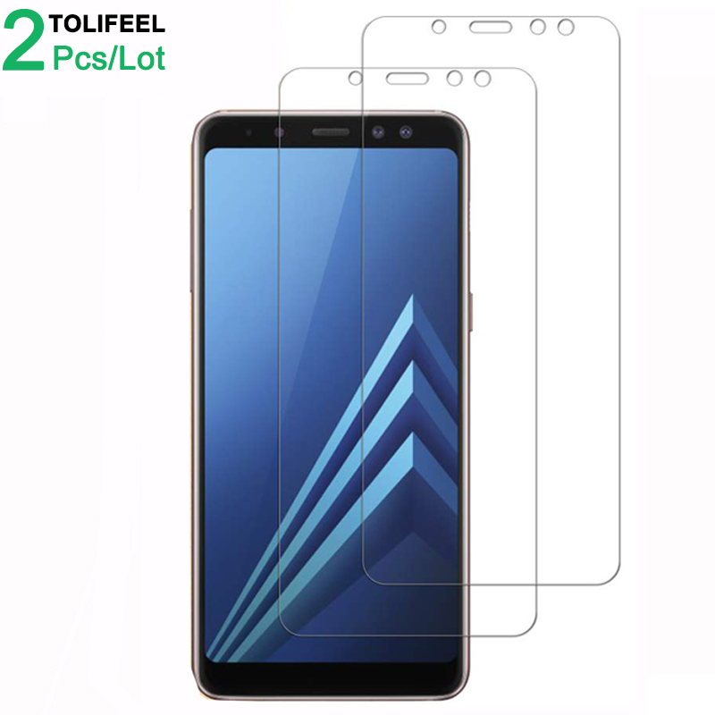 2Pcs Tempered Glass For Samsung Galaxy A8 2018 Screen Protector 9H 2.5D Phone On Protective Glass For Samsung A8 Plus 2018 Glass