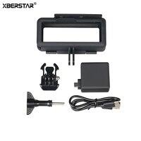 XBERSTAR Frame Case Cover Shell For Gopro Hero 6 5 Black 2300MAH Backpack Extended Battery For